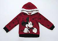 Теплая кофта Mickey Mouse для мальчика. 80, 90, 100, 120 см