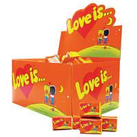 Блок жвачек Love is... Ананас-апельсин :)