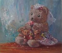 Картина маслом «Невеста» декорирование детской комнаты