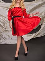 """Нарядное атласное платье """"Токадо рэд"""", размеры М-XL"""