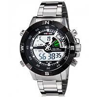 Мужские элитные спортивные часы WEIDE Metal Черные