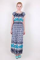Стильное батистовое длинное платье, фото 1