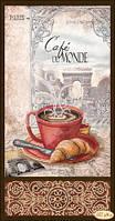 """Схема для вышивки бисером """"Кофе в Париже-1"""""""