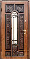 Стальные двери в частный дом МДФ патина ковка стекло ТМ Абвер модель Fabiana(K7) код: 127
