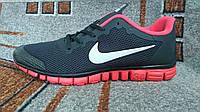 Мужские беговые кроссовки Nike free ран 3.0 черные с красным