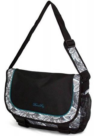 Молодежная интригующая сумка Daniel Ray полиэстер 43,568400 черная