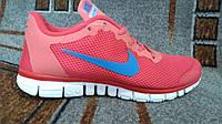 Подростковые мужские кроссовки Nike фри ран для фитнеса алые распродажа