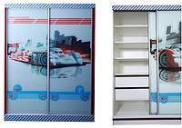 Шкаф-купе Тачки Дизайн Дисней Сю Тодороки 2 двери