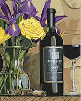 Вертикальная раскраска по номерам на холсте цветы Приятный вечер худ. Якобс Скотт 40 х 50 см KH2067