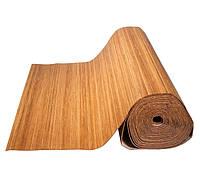 Обои бамбуковые темные 8 мм,ширина 2.5м