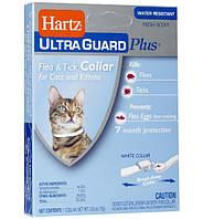 Hartz Ultra Guard - Хартц ошейник для кошек от блох и клещей, 35см