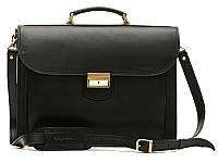 Кожаный мужской портфель Manufatto Black
