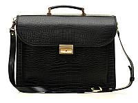 Кожаный мужской портфель Manufatto Croco Black