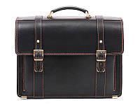 Кожаный мужской портфель Manufatto РВМ — 3 Black