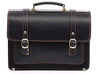 Деловой мужской кожаный портфель Manufatto СПС — 1 Black