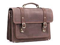 Кожаный портфель ручной работы Manufatto СПС — 1 Maroon Crazy Horse