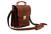 Мужская кожаная сумка-барсетка Manufatto