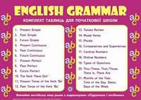 Комплект таблиць. Граматика англійської мови. 1-4 класи