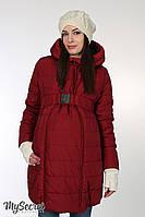 """Очень теплая зимняя куртка для беременных """"Neva"""", бордовая"""