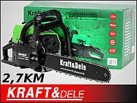 Бензопила Kraftdele KD-155-2 зеленая, 2.7 лс, шина 45см