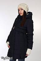 """Очень теплая зимняя куртка для беременных """"Neva"""", темно-синяя"""