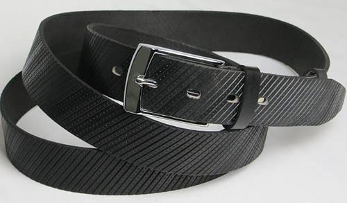 Длинный брючный мужской кожаный ремень 3070 чёрный ДхШ: 178х3,5 см.!!!