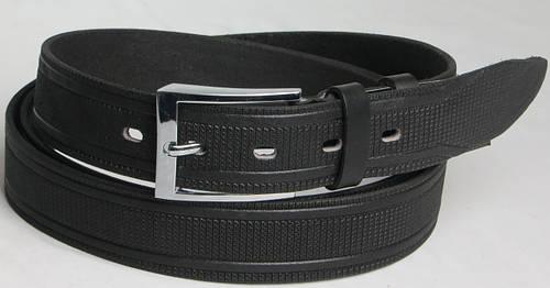 Длинный брючный мужской кожаный ремень 3069 чёрный ДхШ: 173х3,5 см.!!!