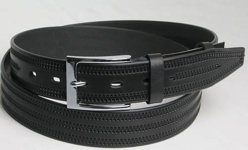 Ремень мужской кожаный классический 2782 чёрный ДхШ: 130х3,5 см.
