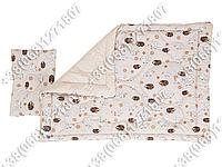 Комплект для новорожденных - шерстяное одеяло 105х140 и подушка 40х60 Барашки