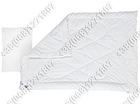 Комплект для новорожденных белый - силиконовое одеяло 105х140 и подушка 40х60