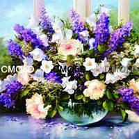 """Картина своими руками """"Букет весенних цветов"""" (алмазная мозаика)"""