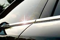 Накладки на уплотнитель дверных окон на Мицубиси Ланцер-10 сед.(нерж.) OMCARLINE.