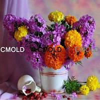 """Алмазная вышивка """"Красочные цветы в ведерке"""""""