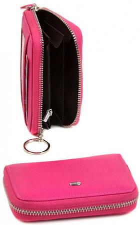 Прекрасный женский кожаный кошелек dr.Bond WKR-1 plum-red светлый красный