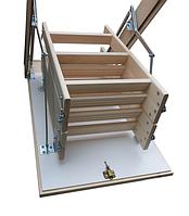 Чердачные лестницы 90*60 Бук Bukwood Compact Mini 4 скційна, фото 1