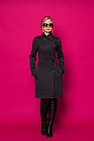Женское пальто-кардиган 355 (серое)