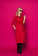 Женское пальто-кардиган 354 (красный)