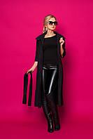 Женское пальто-кардиган 354 (черный)