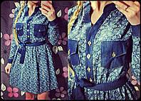 """Платье женское джинсовое с поясом """"Малибу"""""""
