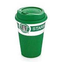 Кружка керамическая Старбакс Starbucks с крышкой и в подарочной упаковке
