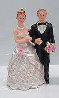 Свадебные фигурки на торт. Высота:11 см