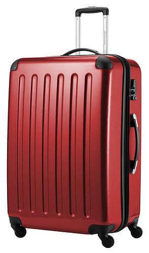 Функциональный дорожный 4-колесный чемодан-гигант 130 л. HAUPTSTADTKOFFER alex maxi red красный