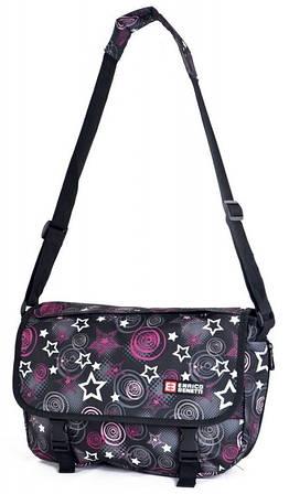 Очаровательная молодежная сумка Enrico Benetti полиэстер 43097316 черная, розовая