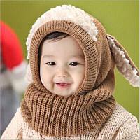 """Шапочка-шлем, зима/весна/осень """"Овечка"""", шерстяная, унисекс, р. 1-4 года"""
