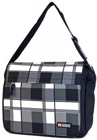 Удобная молодежная сумка Enrico Benetti полиэстер 54357614 серая
