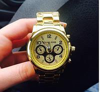 Часы карцевые женские Michael Kors, золотистые
