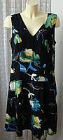 Платье женское в цветах элегантное миди бренд Next р.50 5209