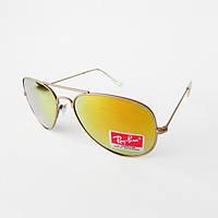 Очки солнцезащитные Ray Ban AVIATOR линзы стекло RB 3025 712/19