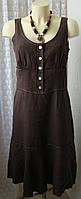 Платье женское льняное лен миди бренд Gerard Darel р.46 5217