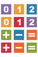Набор магниты-цифры Арифметика, 60шт